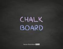 Czerni chalkboard tło Zdjęcie Royalty Free