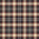 Czerni, czerwieni i bielu szkockiej kraty tło, ilustracja wektor
