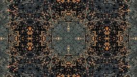 Czerni i pomarańczowego pasiastego grunge abstrakcjonistyczny projekt ilustracji