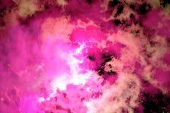 czernić kolorowego dym Obraz Stock