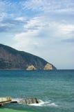 czernić krajobrazowego morze Zdjęcie Stock