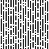 Czerni kropki na białym tle i zespoły Abstrakcjonistyczny bezszwowy junakowanie ilustracji
