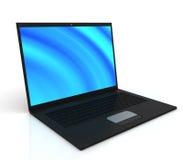 czernić laptop eleganckiego cienieje Zdjęcie Stock