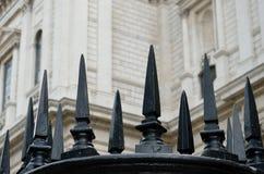 Czerni obsady żelaza ogrodzenie Fotografia Stock