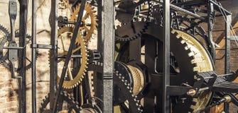 Czerni obsady żelaza cogwheel Zdjęcie Stock