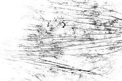 Czerni porysowana tekstura na białym tle obraz stock