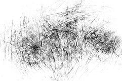 Czerni porysowana tekstura na białym tle fotografia stock