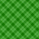 Czerni tartan tradycyjnej tkaniny bezszwowego wzór i zielenieje, wektor royalty ilustracja