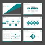 Czerni wielocelowego infographic prezentaci broszurki ulotki ulotki strony internetowej szablonu płaskiego projekt i zielenieje Fotografia Royalty Free
