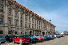 Czernin宫殿在布拉格 免版税库存照片