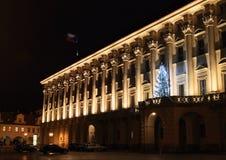 Czernin Palace at night Stock Photography
