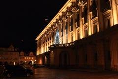 Czernin Palace at night Royalty Free Stock Photo