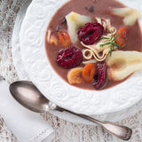 Czernina  is a Polish soup. A fresh Czernina  is a Polish soup Royalty Free Stock Image
