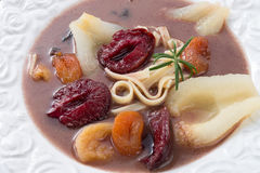 Czernina  is a Polish soup. A fresh Czernina  is a Polish soup Stock Images