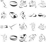 czerparki złociste ilustracja wektor