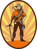 czerparki złocistego górnika prospector ilustracji