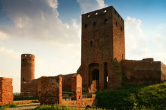 Czersk castle. Medieval castle in Czersk. Gothic style Royalty Free Stock Image