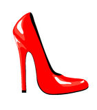 czerwień but Fotografia Stock