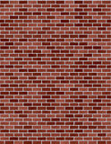 czerwień ceglasta bezszwowa ściany Fotografia Royalty Free