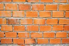 czerwień ceglasta tekstury ściany Obrazy Royalty Free