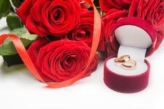 czerwień dzwoni róż target1789_1_ Fotografia Stock
