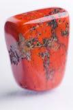 czerwień jaspisowy naturalny kamień Fotografia Royalty Free