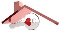 czerwień kluczowy dach Zdjęcie Stock