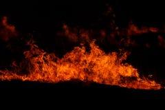 czerwień płomieni Fotografia Stock