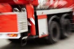 czerwień pożarniczy ślad Zdjęcia Stock