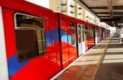 czerwień pociąg Zdjęcia Stock