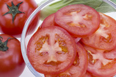 czerwień pokrajać pomidoru Zdjęcie Royalty Free