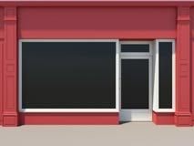 czerwień sklep ilustracja wektor