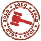 czerwień sprzedający znaczek Fotografia Stock