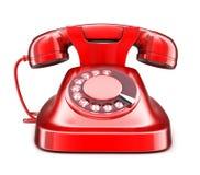 czerwień stary telefon royalty ilustracja