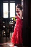 czerwień wzrastał target4443_0_ kobiety zdjęcie royalty free