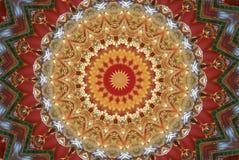 czerwień z pomarańczowym jaskrawym ornamentem Fotografia Stock