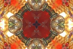 czerwień z pomarańczowym jaskrawym ornamentem Obraz Royalty Free