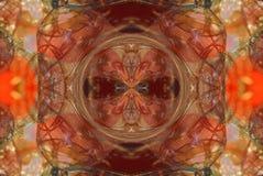 czerwień z pomarańczowym jaskrawym ornamentem Obraz Stock