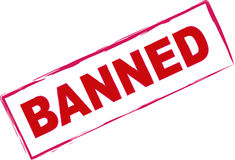 czerwień zakazujący znaczek Obrazy Royalty Free