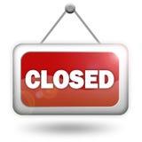 czerwień zamknięty znak Obraz Stock