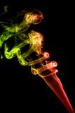 czerwień barwiony dym Zdjęcie Stock