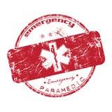 czerwień przeciwawaryjny znaczek Zdjęcia Royalty Free