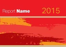 czerwień raportu pokrywa 2015 ilustracji