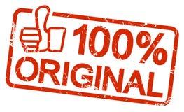 czerwień znaczka 100% oryginał Zdjęcie Stock