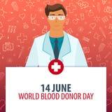 14 Czerwiec Światowy krwionośnej darowizny dzień Medyczny wakacje Wektorowa medycyny ilustracja ilustracji