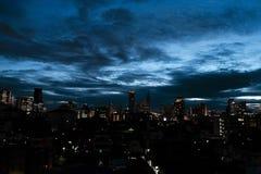 Czerwiec 07,2018 Bangkok Tajlandia: Noc widok Bangkok Tajlandia b Zdjęcie Royalty Free