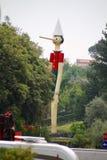 Czerwiec 09 2015; Collodi, Włochy; wysoki drewniany Pinocchio w świacie w Collodi, Tuscany Fotografia Stock