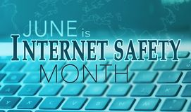 Czerwiec jest krajowy internet ochrony miesiąc fotografia royalty free