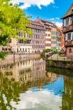 22 2012 Czerwiec Mały Francja okręg w Strasburg, Francja zdjęcia stock