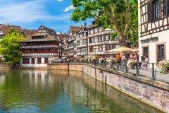 22 2012 Czerwiec Mały Francja okręg w Strasburg, Francja obrazy royalty free